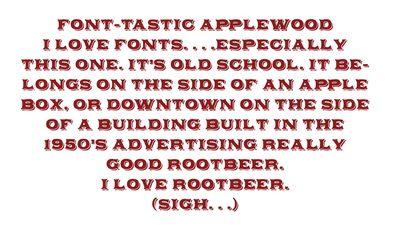 Applewood font